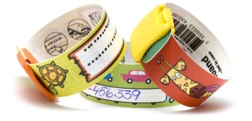 InfoBand Kids/Child Safety ID Wristbands/Bracelets