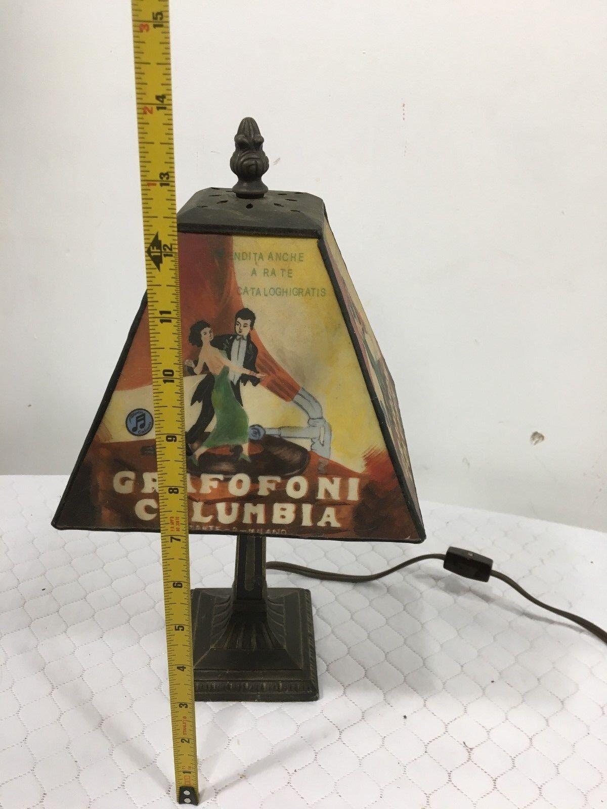 Vintage Rare Grafofoni Colombie Colombie Colombie Vitrail Table Lampe en Excellent État | Emballage Solide  dd7634