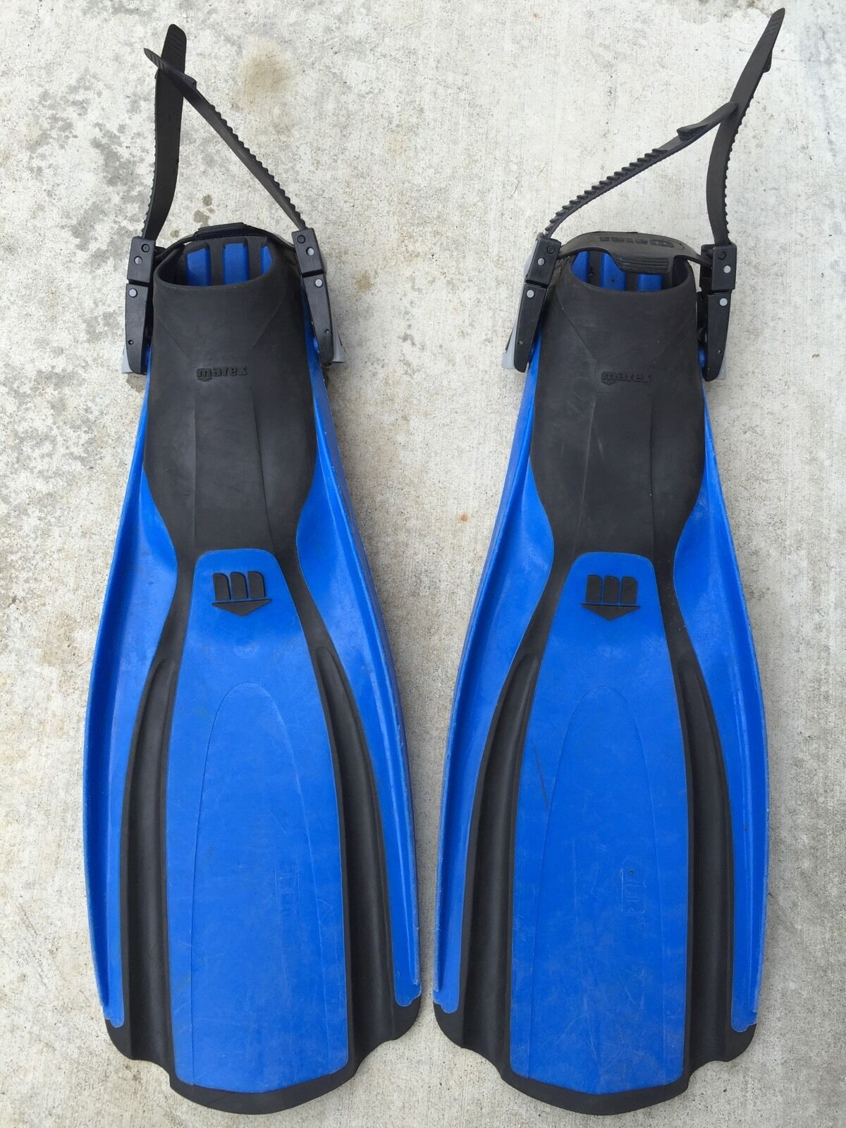 blueee Mares Plana Avanti  Fins Flippers Size Regular Pre Owned  free shipping & exchanges.