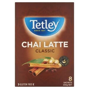 Tetley Classic Chai Latte Tea Sachets 8 pack 200g
