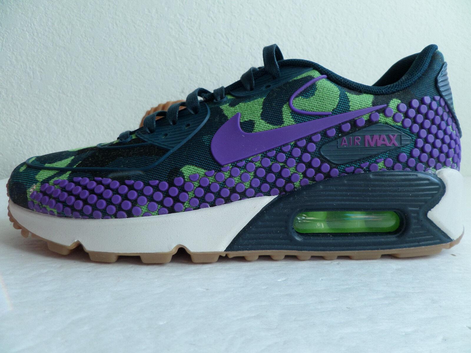 Nike Air Max 90 Jacquard Premium Women Running Shoes Green Camouflage 807298 300