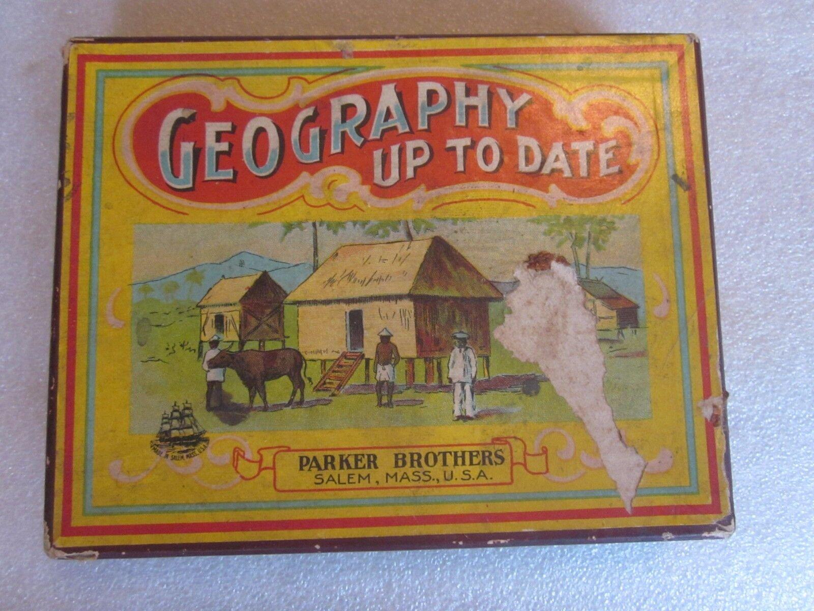 Vintage géographie jusqu 'à ce jour Jeu par Parker Brougehers Salem, Mazinger Angel rare objet