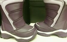 Toddler Girl size 6 purple Lands End snow boots NWOB