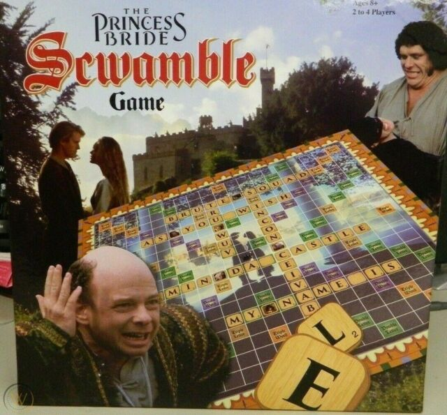The Princess Bride Scwamble Board Game - bargain $65! Priced to sell.FREE post.