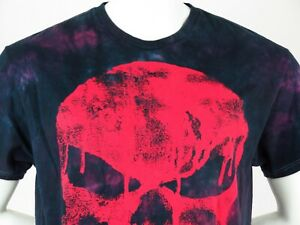 25d6ca077 Marvel Comics T Shirt Punisher Tie Die Large Mens Distressed Skull ...