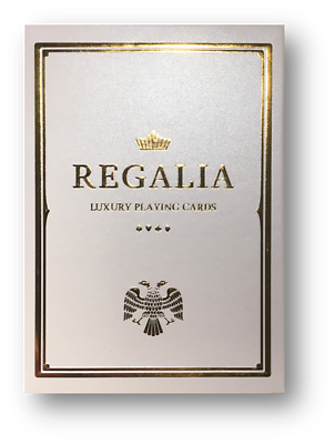 Regalia White Playing Cards By Shin Lim Partita A Poker Carte Cardistry-mostra Il Titolo Originale Costruzione Robusta
