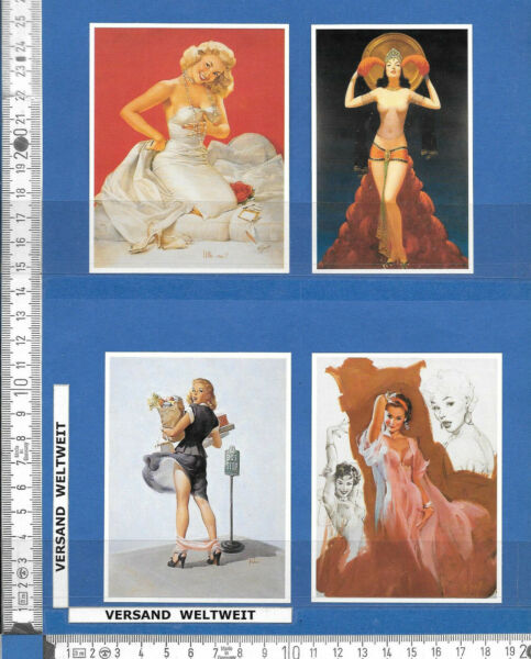 Gehorsam 4 Pin-up-bilder * * Erotik / Akt – Vintage * 81-84 Der Preis Bleibt Stabil