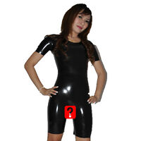 Brand New Latex Rubber Short Sleeved Open Catsuit Body (one Size)