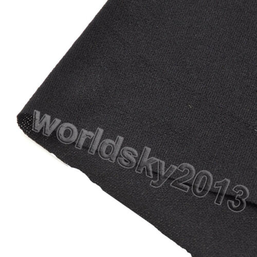 Audio Speaker Grill Cloth Stereo Net Cover Dust Fabric Mesh Cloth 1.6x0.5m Black