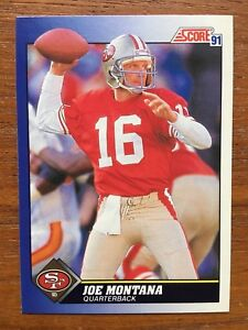 1991-Score-Football-Card-1-Joe-Montana-San-Francisco-49ers-Mint