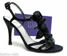 STUART WEITZMAN 'Jardin' Black Size 7 1/2 Heels Pumps Shoes Evening Sandals 7.5