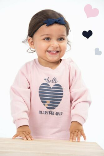 Baby Girl Heart Breaker Pink Long Sleeve Jumper Soft 3-6 /& 6-9 Months DS74 NEW
