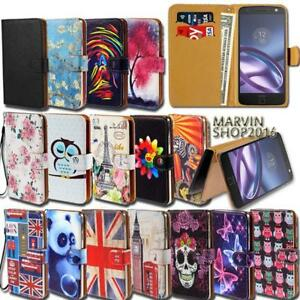 Leather-Wallet-Card-Stand-Flip-Case-Cover-For-Various-Motorola-SmartPhones