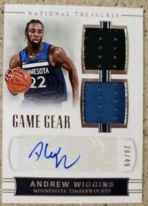 2017-18-National-Treasures-Andrew-Wiggins-Auto-d-28-49-GU-Dual-Jersey-Autograph