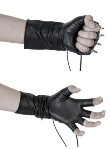 Gothic leder fingerloser Handschuh punk lolita Nägel Schnürung PunkRave gemischt