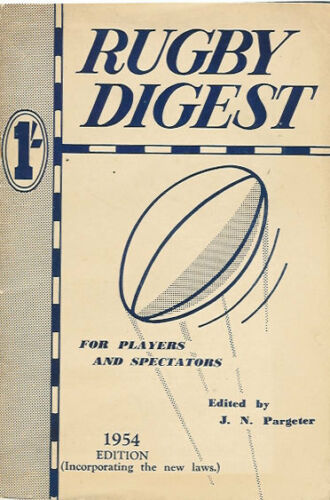 1954 Rugby Digest edited by JN Partgeter very good condition BRITISH ANNUAL