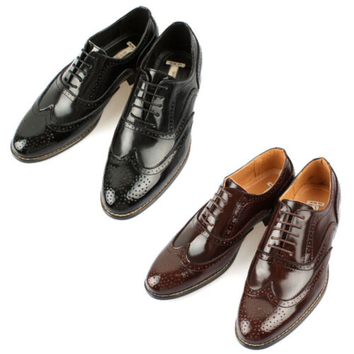 Mooda Mens Leather Wing Tip Shoes Classic Formal Oxfords Dress Shoes Oxford