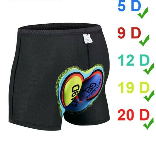 New Unisex Cycling Shorts Bicycle Bike Underwear Pants With Sponge Gel 3D Padded