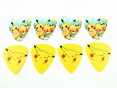 10pcs 1.0mm Two Side Musical Accessories DIY Amine Pikachu Image guitar picks