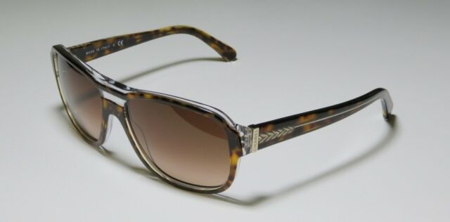 a9facdf4c6 AUTHeNtIc CHANEL Sunglasses 5194 Brown Gold Shield Rimmed Aviator Wrap  Havana