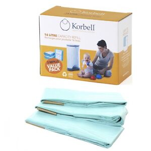 KORBELL-STANDARD-REFILL-Triple-Refill-Pack-for-15-Litre-amp-16-Litre-Nappy-Bins