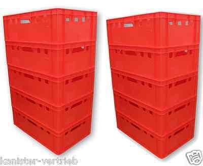10 X Eurofleischkiste E2 Stapelbar Lagerkiste Metzgerkiste Kiste Box Behälter