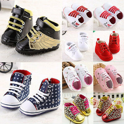Lace up baby shoes boys girls unisex anti-slip size 0-18 months toddlers pretty