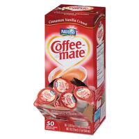 Coffee-mate Liquid Coffee Creamer Cinnamon Vanilla 0.375 Oz Mini Cups 50/box on sale