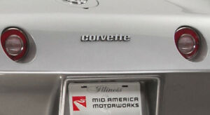 1976-1979 Corvette C3 Rear Bumper Script Lettering Emblem Reproduction 600626