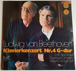 Beethoven Piano Concerto No 4 Gilels Cleveland Orchestra Szell Eurodisc Stereo
