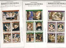 3 FOGLIETTI ERINNOFILO TOLENTINO  ERINNOPHILIE poster stamps minisheets