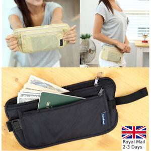 Travel Bum Bag Waist Wallet Money Belt Fanny Passport Holiday Festival Pouch UK