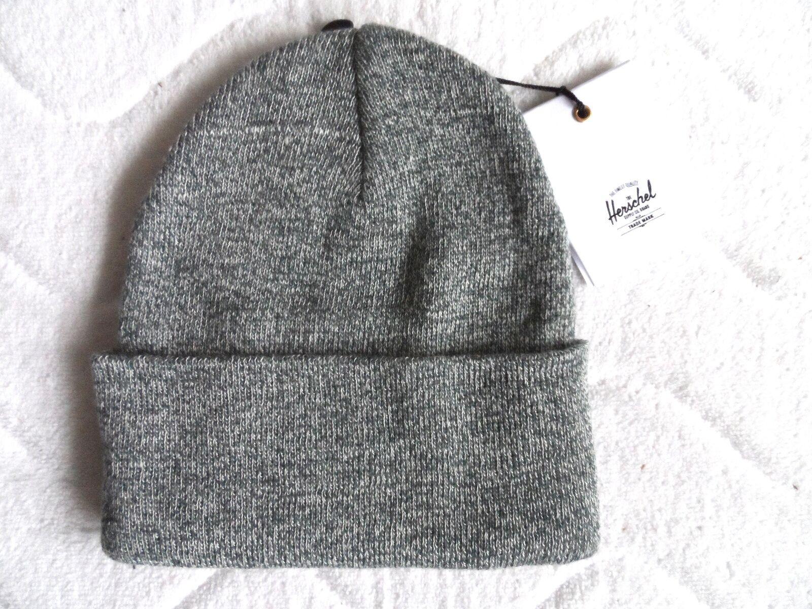 333fcf8c7f7 Herschel Supply Co. Heather Grey Deep Cuff Beanie Hat Unisex Womens Mens  M18 for sale online
