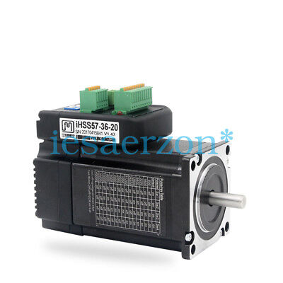 NEMA23 2Nm 283ozf.in Integrated Closed Loop Stepper motor 36VDC JMC iHSS57-36-20