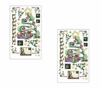 Lot Of 2 Rub On Large Transfers Christmas Card Making Oh Tannenbaum