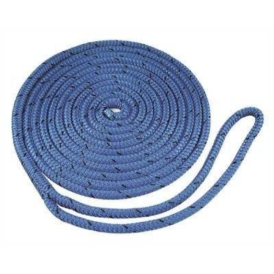 """Boat Accs For Boats up to 25/' 3//8/"""" x 15/' Blue Double Braided Nylon Dock Line"""