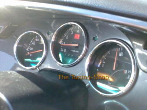 For 93 94 95 96 97 98 Toyota Supra MKIV JZA80 Chrome Gauge Trim Rings Kit New