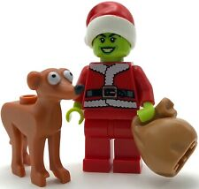 LEGO NEW MINIFIGURE THE GRINCH WHO STOLE CHRISTMAS XMAS HOLIDAY FIGURE W// DOG
