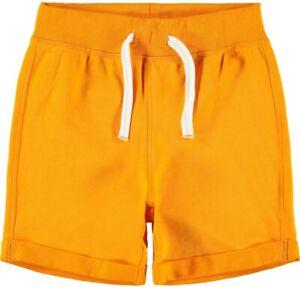 NAME-IT-Jungen-Sweat-Shorts-Jogginghose-NKMPaw-orange-Groesse-128-bis-164