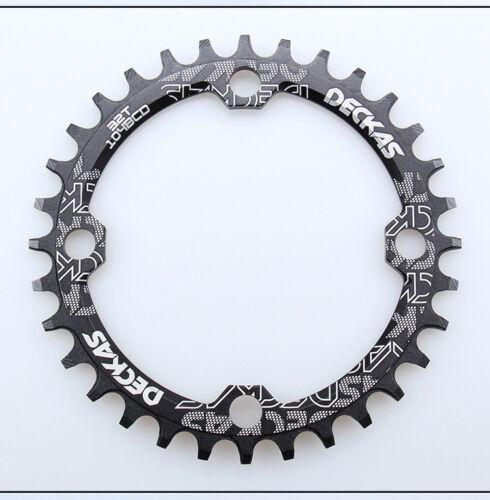DECKAS XC MTB Narrow Wide Oval Single Chainring Chain Ring BCD104mm 32 34 36 38T