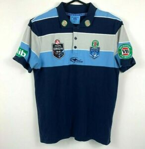 Classic-NSW-State-of-Origin-Polo-Shirt-Men-039-s-Size-Medium-VB