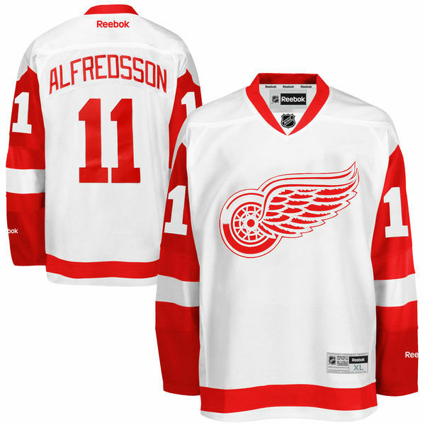 Daniel ALFREDSSON Detroit Red Wings RBK Premier Officially Licensed NHL Jersey,
