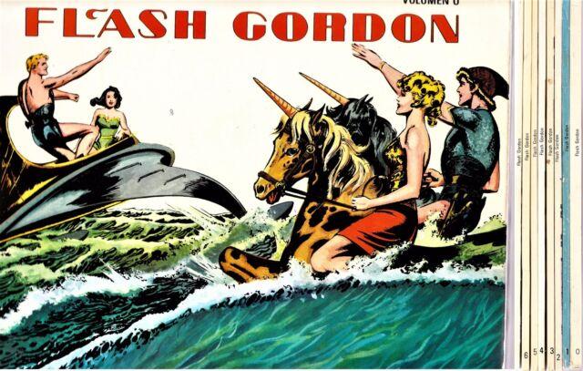 FLASH GORDON de Mac Raboy. Colección completa (8 tomos) Ed. B.O., 1978.