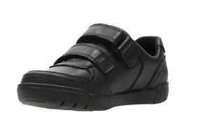 Zapatos Rasgar Mini Negro Cinta Racer Niños Clarks gAwRqxnI