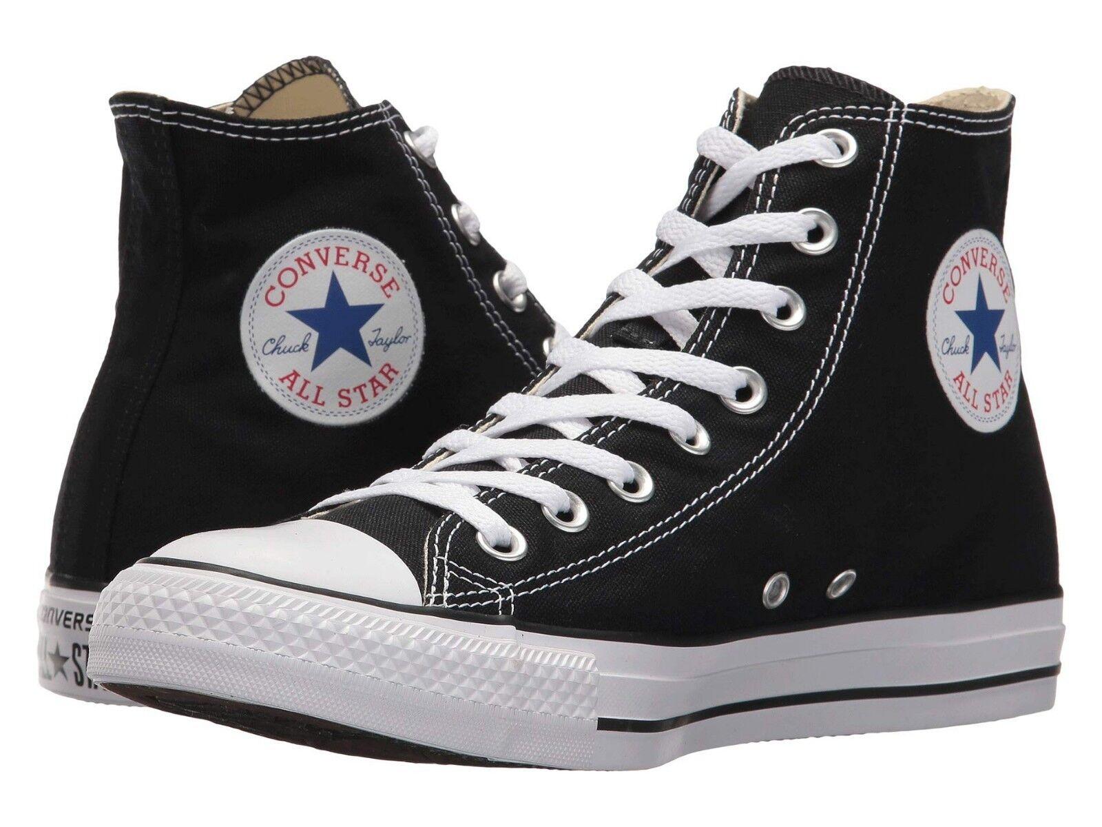 Nuevo para hombre Chuck Taylor All Star Hi Top Zapatillas Negro blancoo Auténtico En Caja