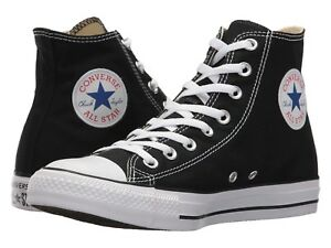 NEW Mens Chuck Taylor All Star High Top Sneakers Black White AUTHENTIC IN BOX