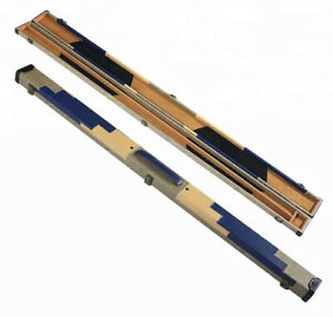 SNOOKER-POOL-3-4-CUE-CASE-GREY-BLUE-amp-CREAM-PATCHWORK-STYLE-FREE-DELIVERY