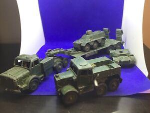 VINTAGE Dinky Esercito veicoli militari diecast