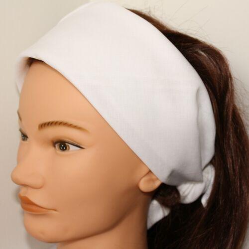 Bandana Scarf Extra Large 100/% Cotton Solid Plain White