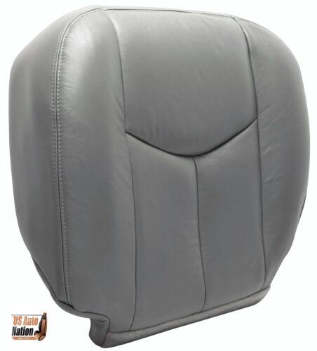 2004 Chevy Avalanche Front Driver Side Bottom Leather Seat Cover Gray